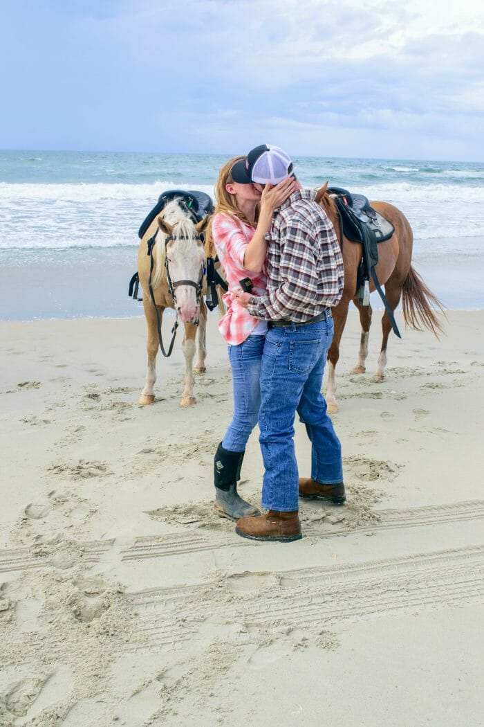 Riley and Isaac's Engagement in Hatteras, NC