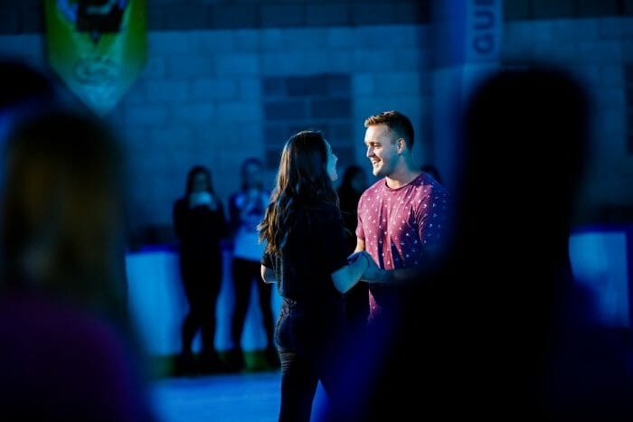 Wedding Proposal Ideas in Skatetown Ice Arena