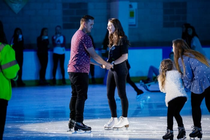 Marriage Proposal Ideas in Skatetown Ice Arena