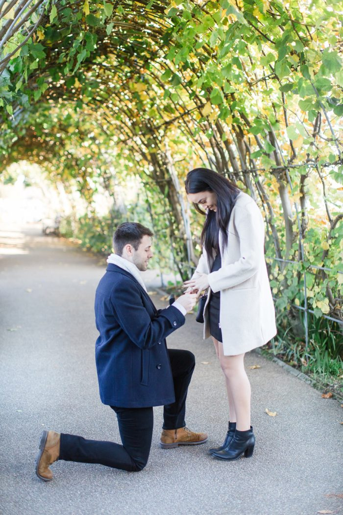 Where to Propose in Lover's Arch, Kensington Gardens, London