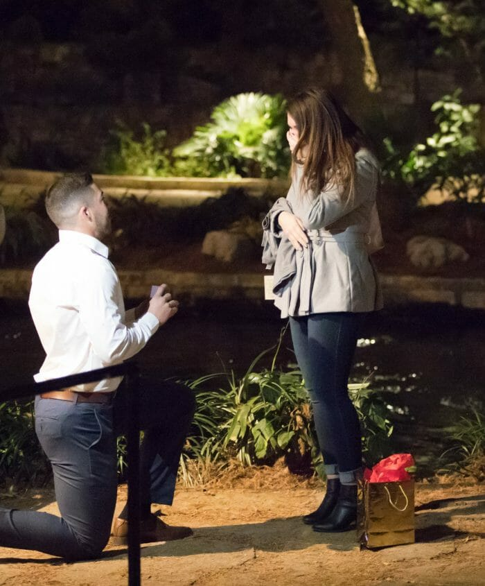 Raeleigh and Jorge's Engagement in On the riverwalk in San Antonio, Texas