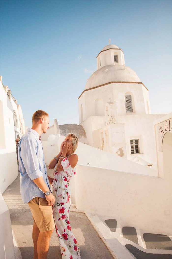 Jacke and Damian's Engagement in Santorini, Greece