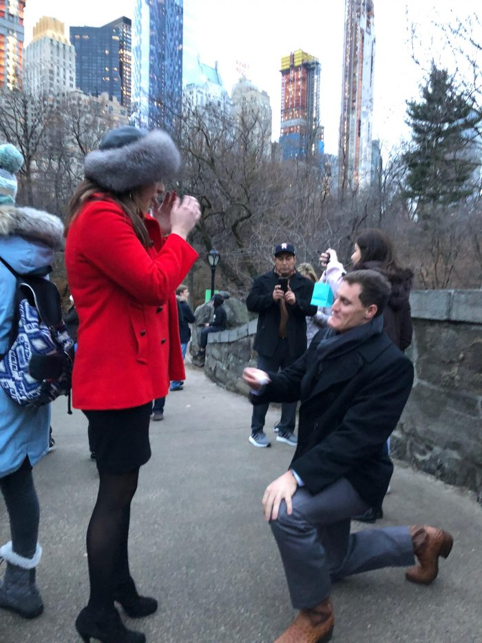 Where to Propose in Central Park// NYC