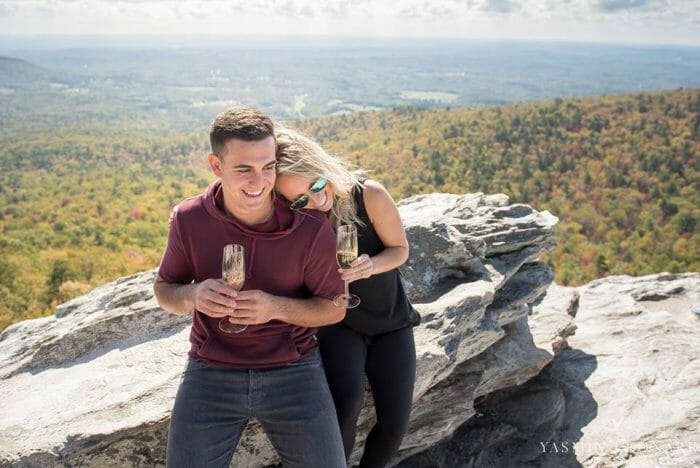 Lauren and Raffaele's Engagement in Hanging Rock State Park