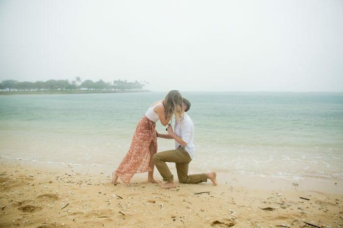 Engagement Proposal Ideas in Magic Island, Hawaii