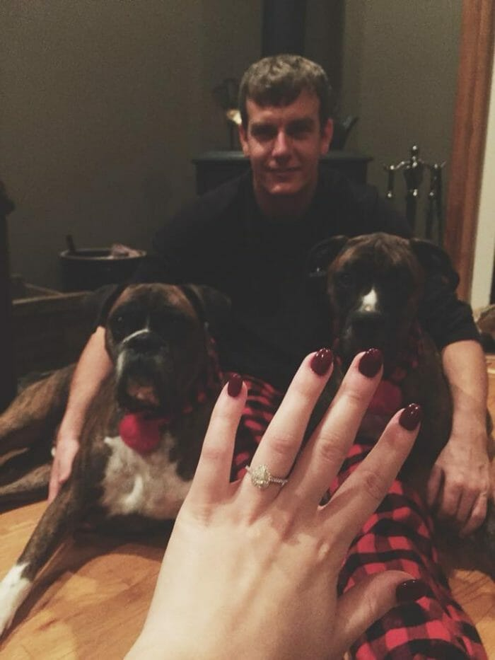 Wedding Proposal Ideas in At his Mom and Dad's