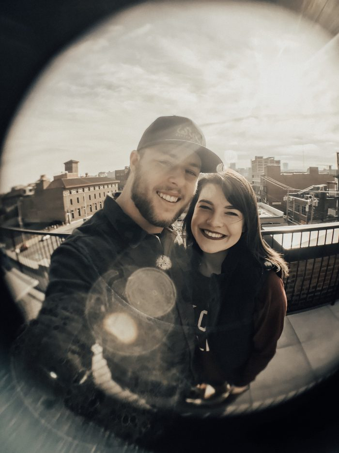 Taylor and Zach's Engagement in Downtown Kansas City, Missouri