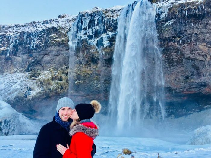 Julie's Proposal in Seljalandsfoss, Iceland