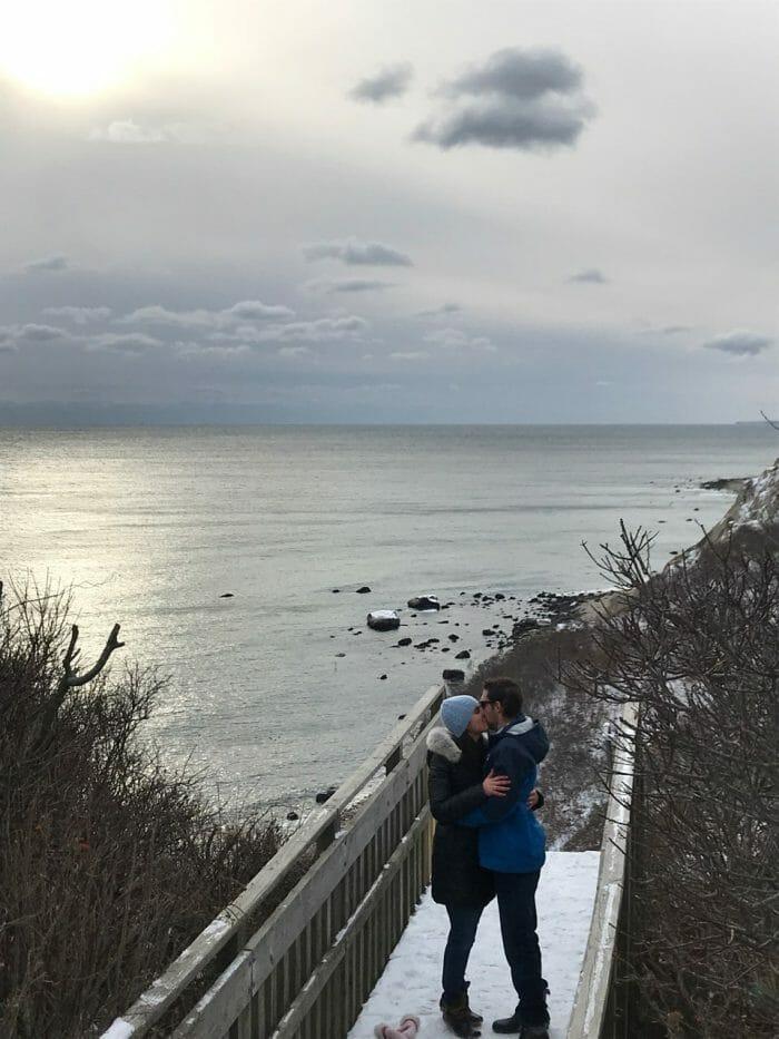 Caroline's Proposal in Block island bluffs