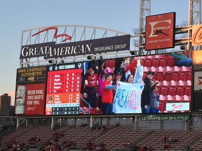 Kelly's Proposal in Cincinnati Reds Stadium