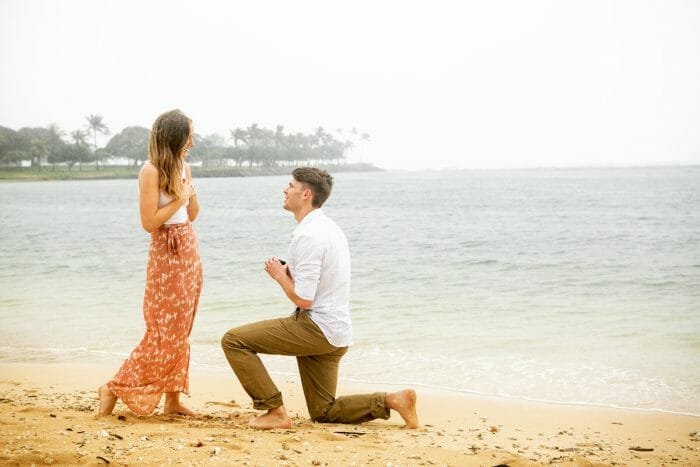 Marriage Proposal Ideas in Magic Island, Hawaii