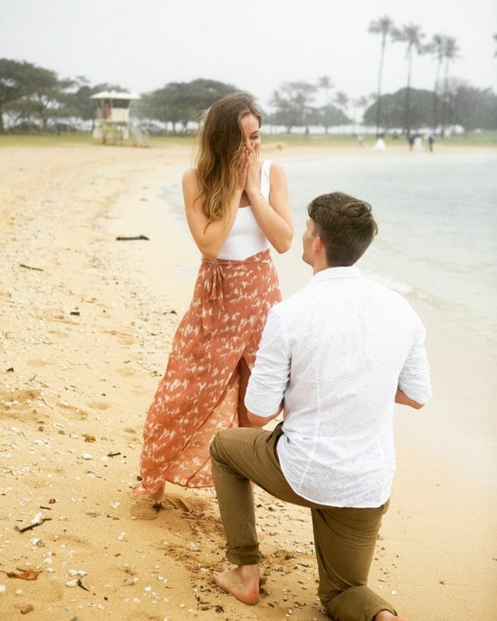 Where to Propose in Magic Island, Hawaii