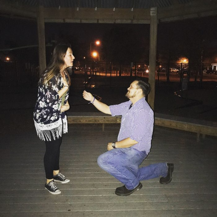 Kirsten's Proposal in Heritage Park