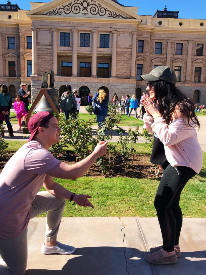 Kelsey and Soraya's Engagement in Women's March, Phoenix AZ