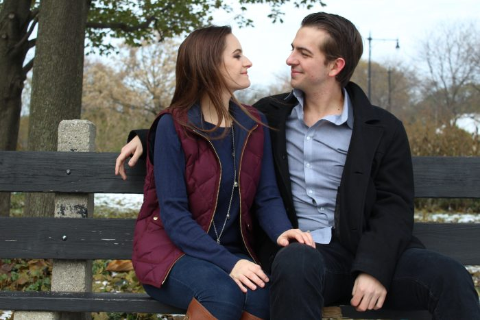 Steph and Tyler's Engagement in Lincoln Park, Chicago