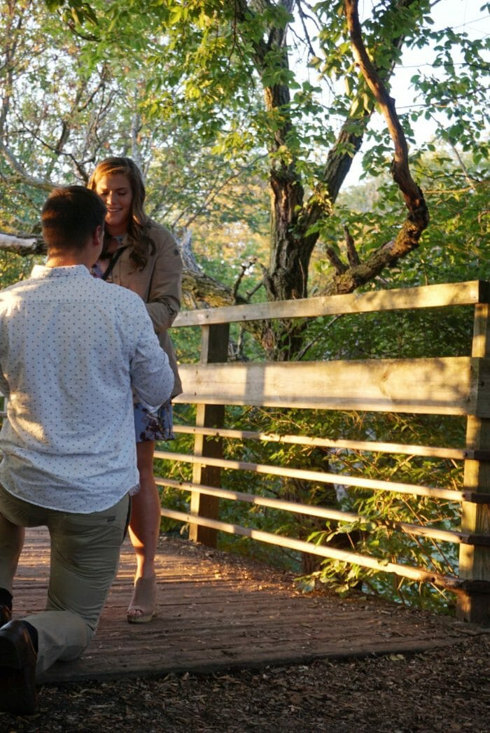 Grace and Cody's Engagement in Gallup Park in Ann Arbor Michigan