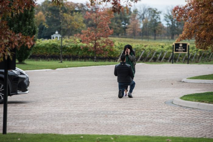Where to Propose in two sisters winery niagara falls canada