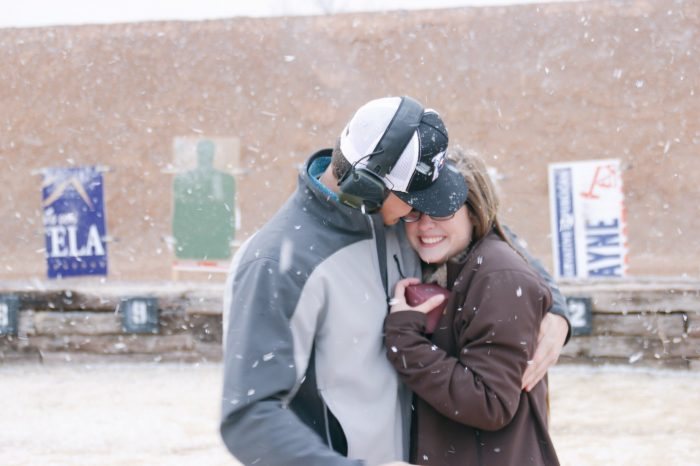 Where to Propose in Our proposal was at a gun range.