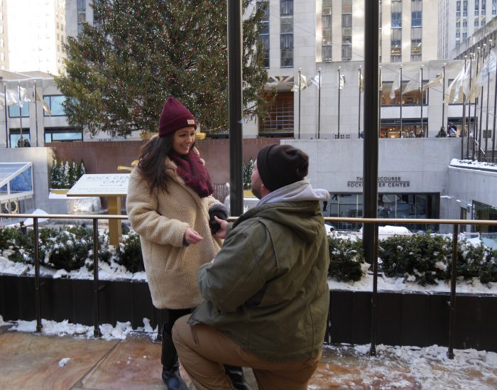 Megan's Proposal in Rockefeller Center, New York City