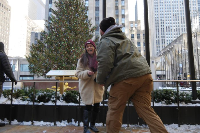 Megan and Will's Engagement in Rockefeller Center, New York City