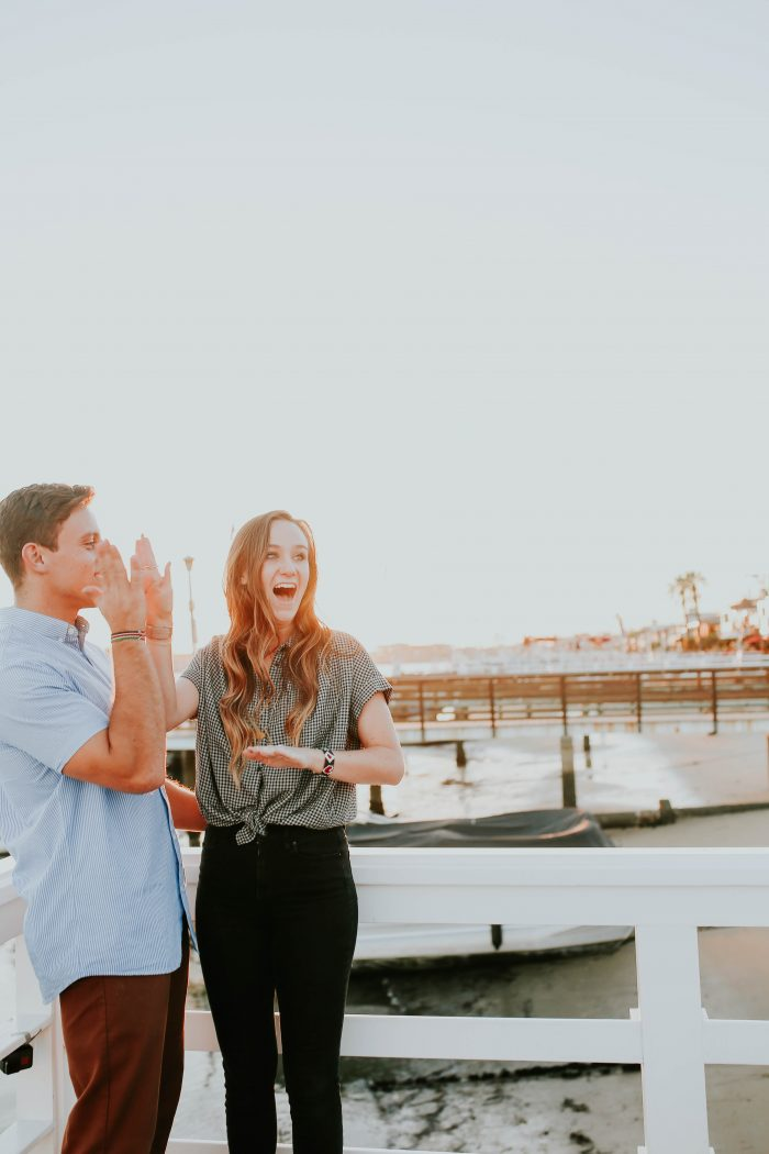 Engagement Proposal Ideas in The end of a dock in Balboa