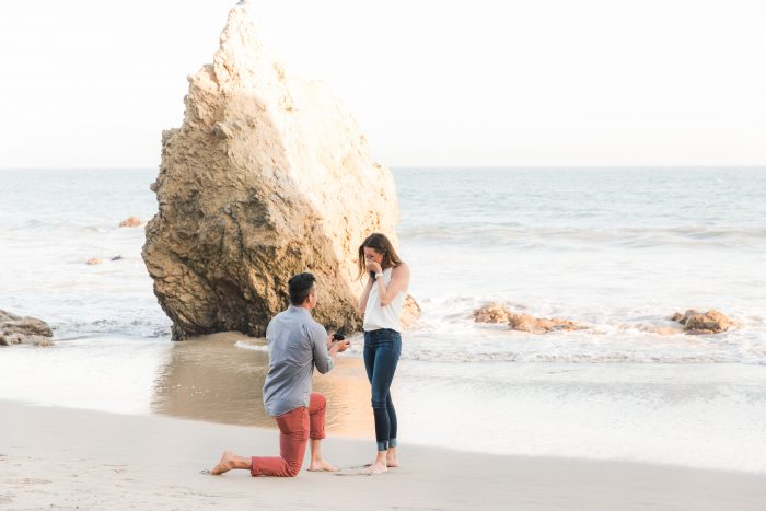 Kelsey and Ike's Engagement in El Matador Beach, Malibu, Ca