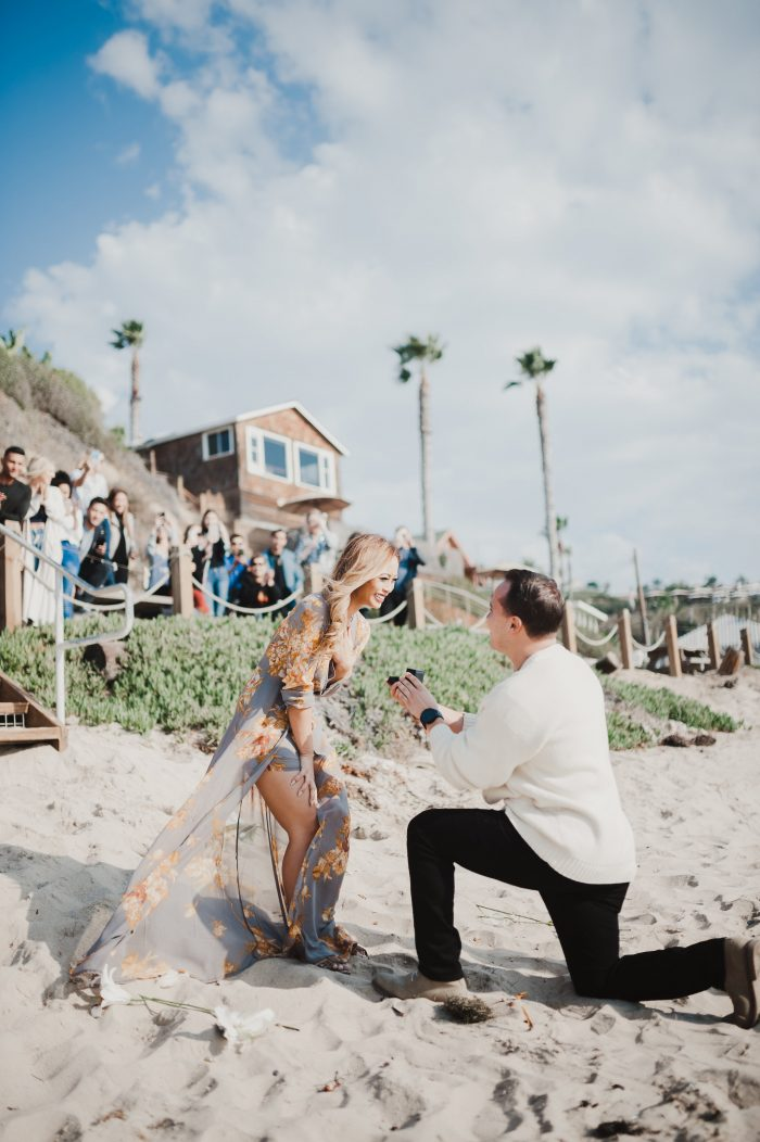 Veronica's Proposal in Crystal Cove Beach