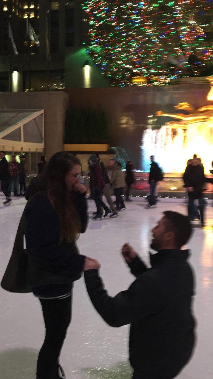 Wedding Proposal Ideas in Rockefeller Rink - New York