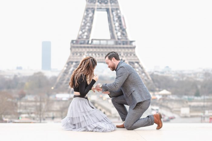 Rachel's Proposal in Paris France