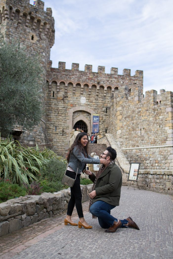 Wedding Proposal Ideas in Castello di Amorosa Winery Napa Valley