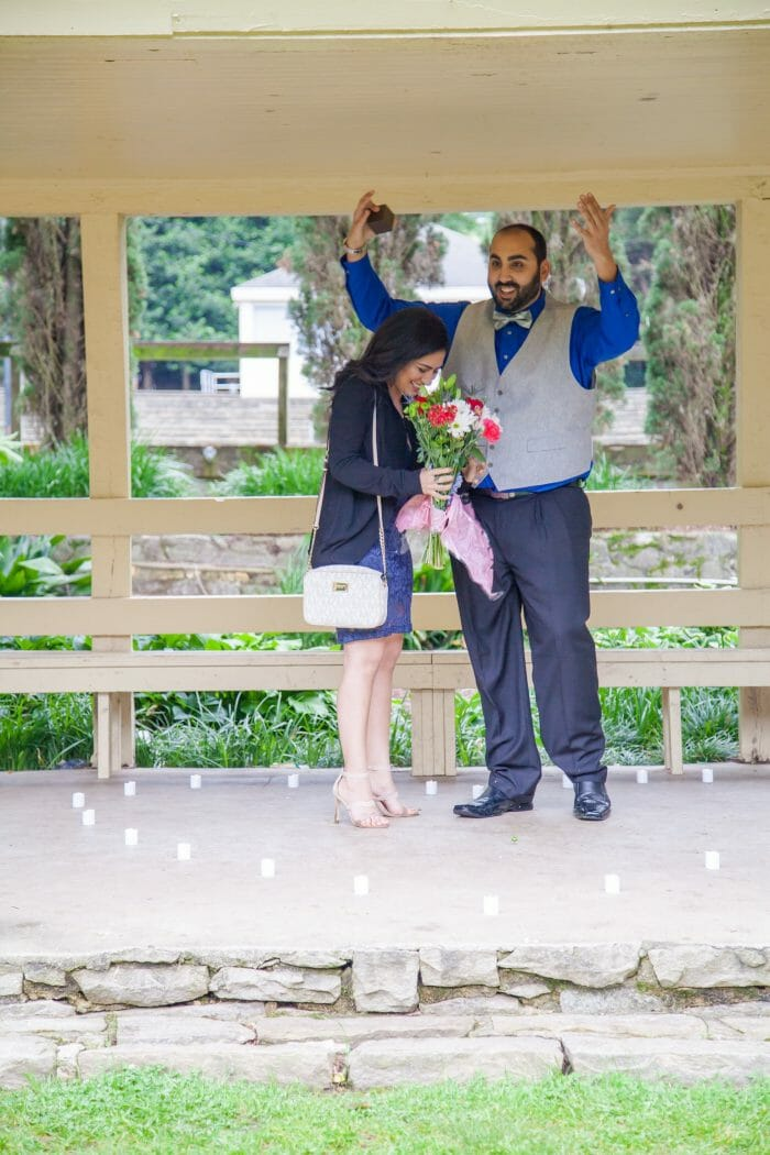 Marriage Proposal Ideas in Raleigh Rose Garden