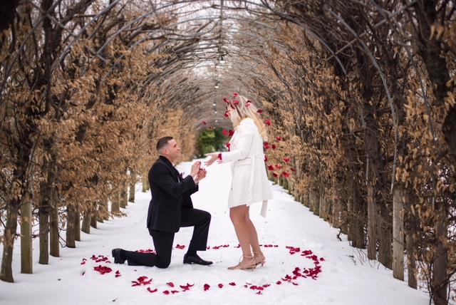 Engagement Proposal Ideas in Snug Harbor Botanical Garden