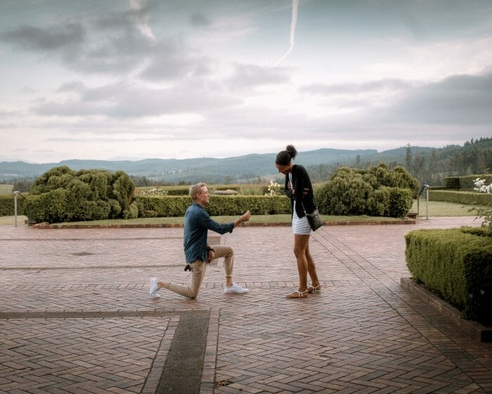 Where to Propose in King Estate Winery, Eugene, OR