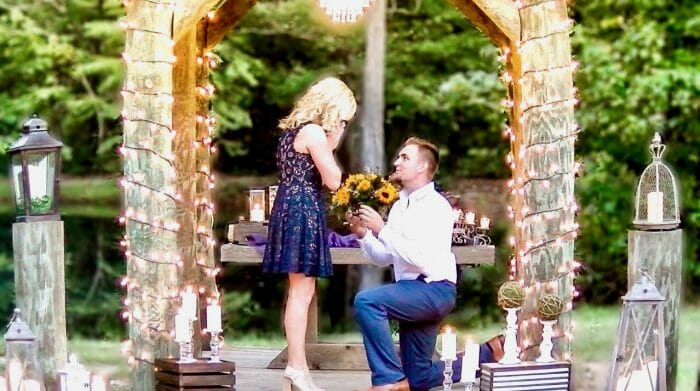 Ashlynn's Proposal in Beaver Creek Lodge in Huntington, Tx