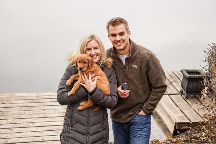 Claire's Proposal in Shady Oak Lake, MN