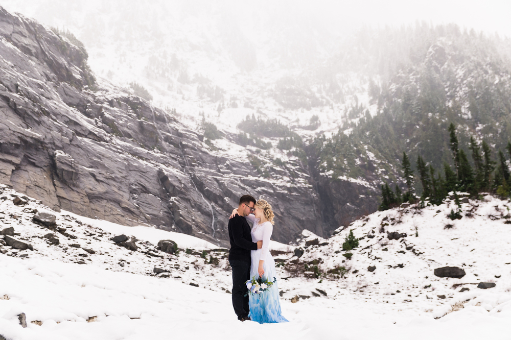 Wedding Proposal Ideas in Big Four Ice Caves, Granite Falls