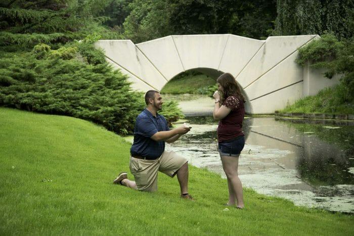 Bethany's Proposal in Dow Gardens, Midland, MI