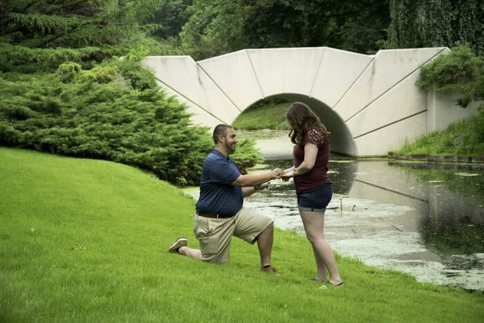 Wedding Proposal Ideas in Dow Gardens, Midland, MI