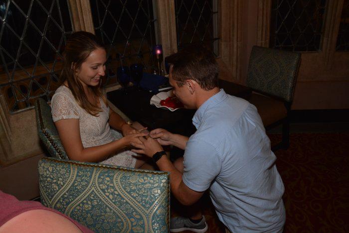 Dayna's Proposal in Cinderella's Castle at Walt Disney World