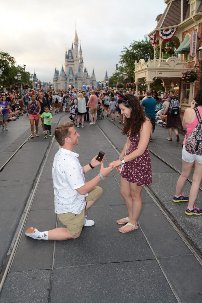 Engagement Proposal Ideas in Cinderella Castle Walt Disney World