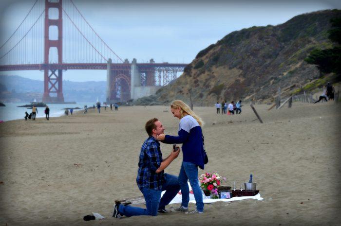 Wedding Proposal Ideas in Baker Beach in San Francisco