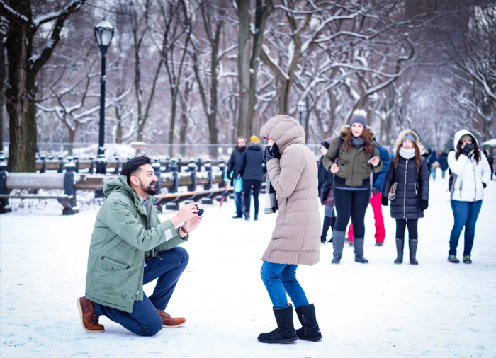Shatabdi and Neil's Engagement in Central Park Literary Walk