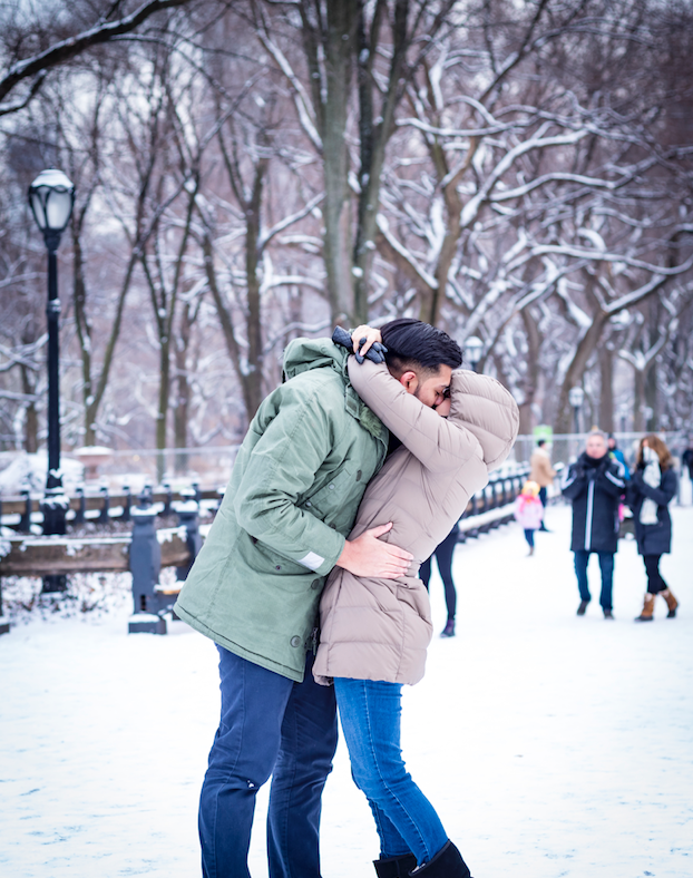 Engagement Proposal Ideas in Central Park Literary Walk