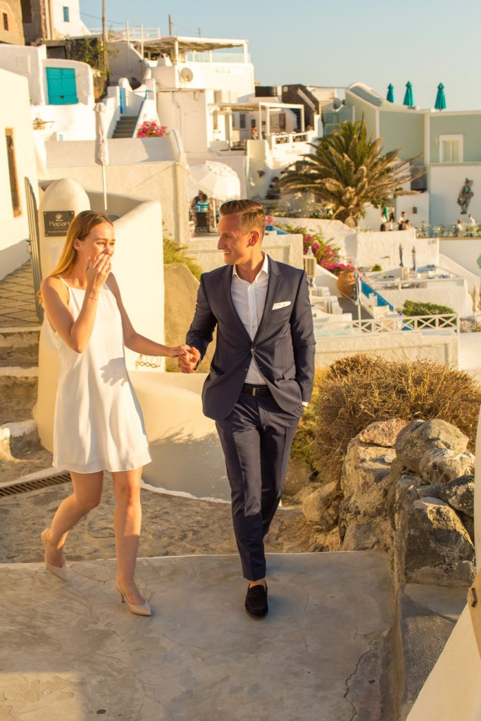 Where to Propose in Santorini, Greece