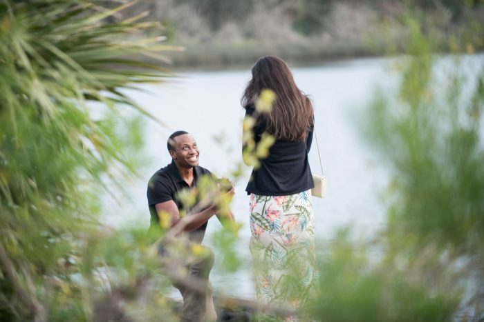 Wedding Proposal Ideas in Tomoka State Park in Ormond Beach, Florida