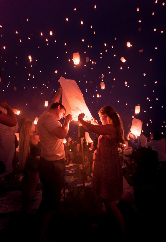 Wedding Proposal Ideas in The Lights Festival in Delta, PA