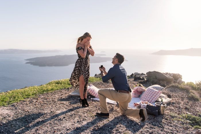 Marriage Proposal Ideas in Santorini