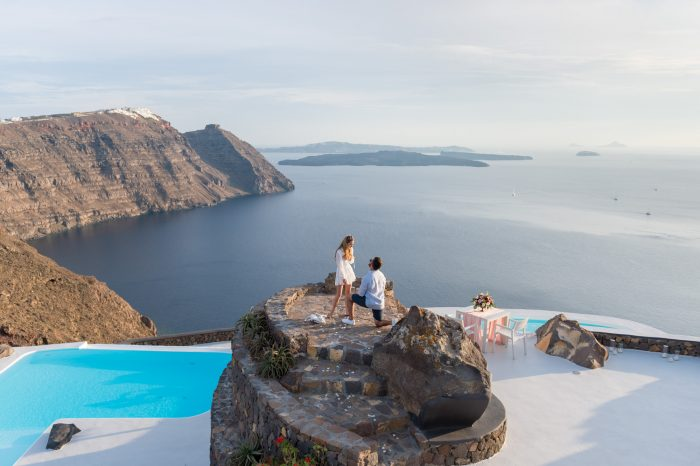 Wedding Proposal Ideas in Aenaon Villas, Santorini