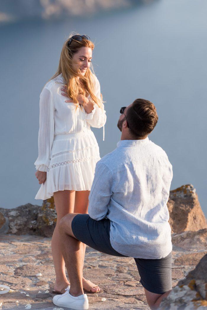 Engagement Proposal Ideas in Aenaon Villas, Santorini