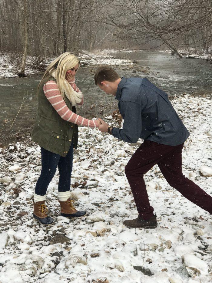 Logan and Ben's Engagement in Boone North Carolina